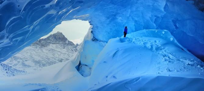 Top 15 Winter Activities in the Canadian Rockies, Fifteen Top Winter Activities in Alberta, Inside Athabasca Glacier, Jasper National Park