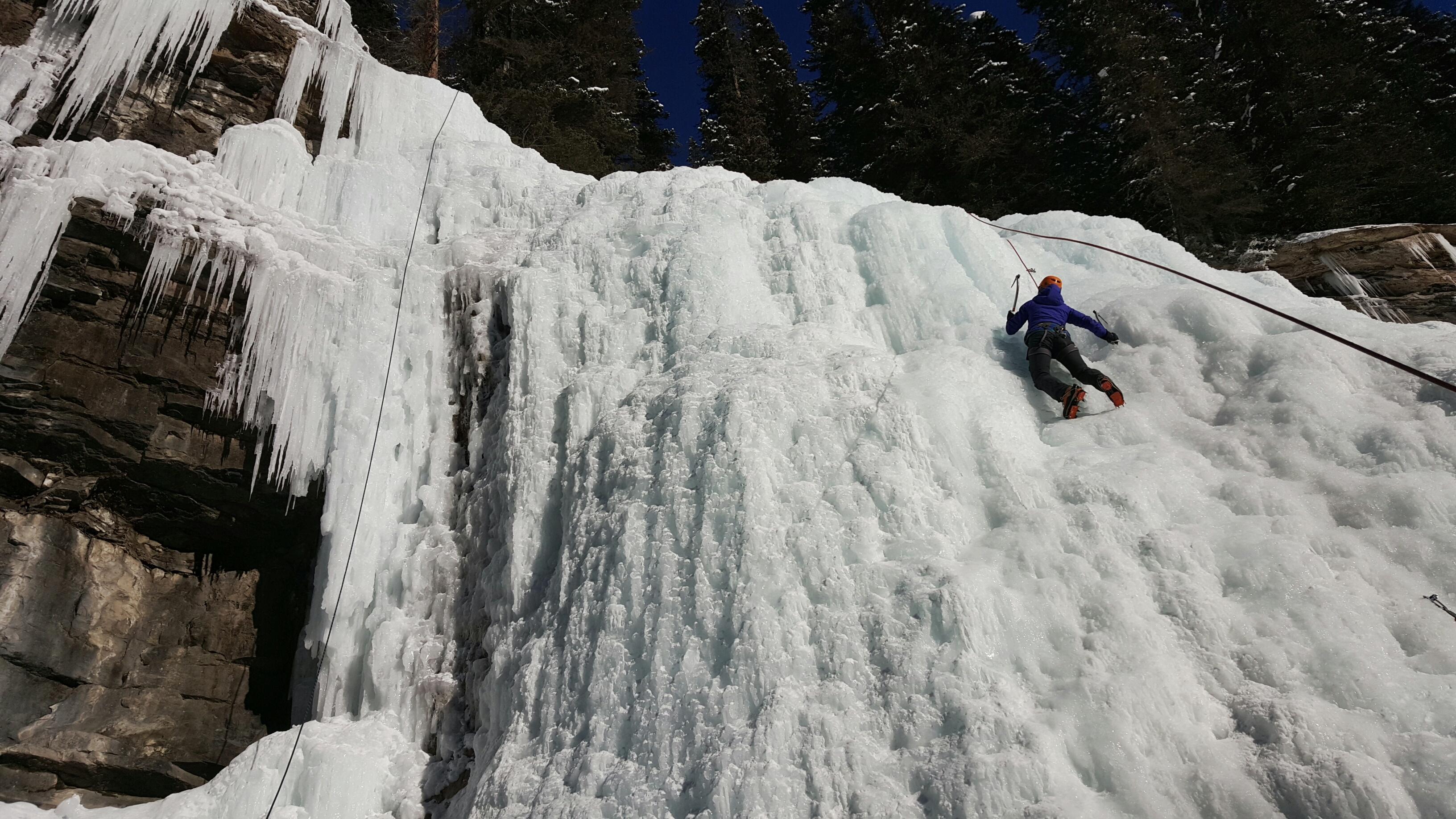 Fifteen Top Winter Activities in Alberta, Ice Climbing Johnston Canyon, Banff National Park, Alberta, Canada