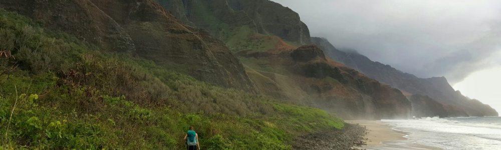 Adventures in Kauai on a Budget, Kalalau Lookout Ridge Trail, Koke'e State Park, Kauai, beardandcurly.com, camping in kauai, hiking in kauai, camping free, cheap camping, budget in kauai