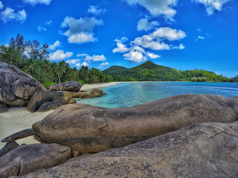 The beautiful rock formations on Seychelles