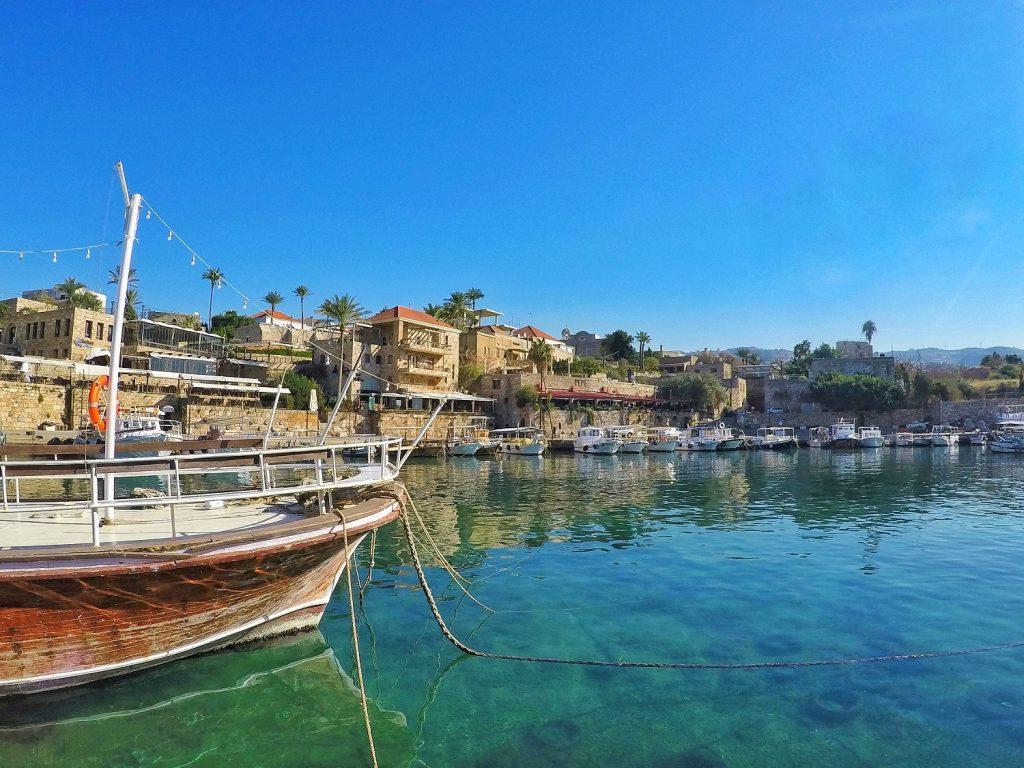 boat docked at Byblos (Jbeil) Harbour