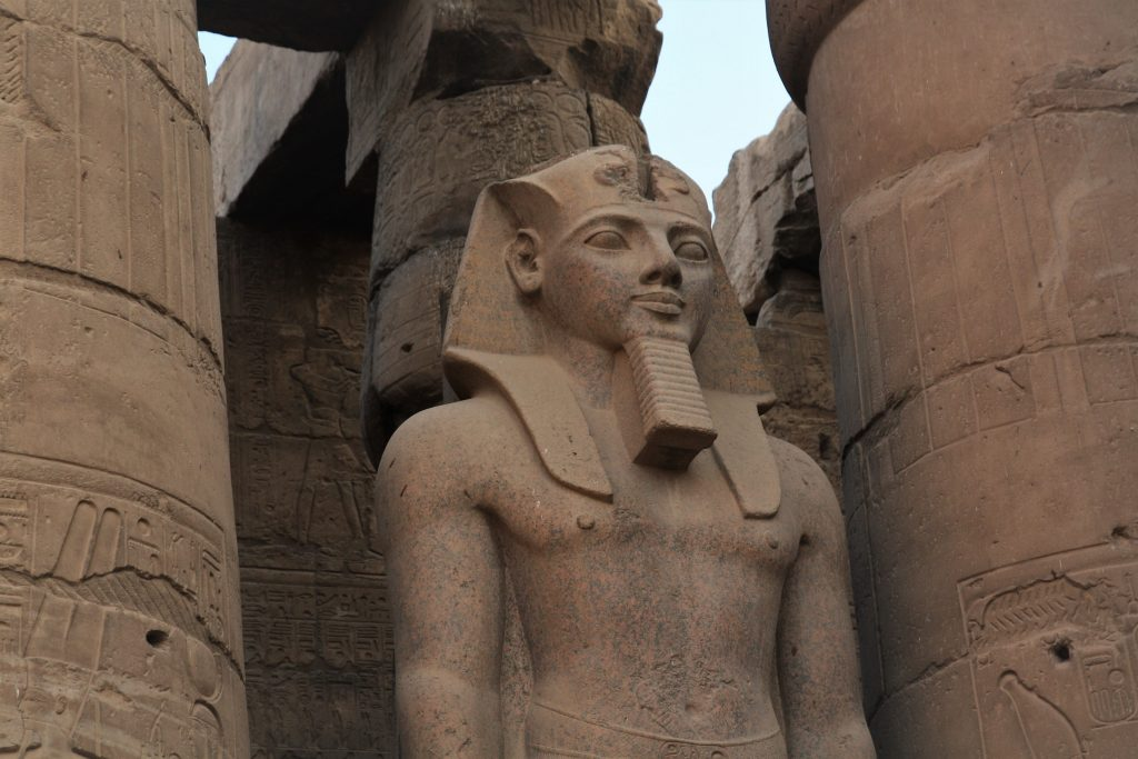 statue of pharaoh at Luxor Temple