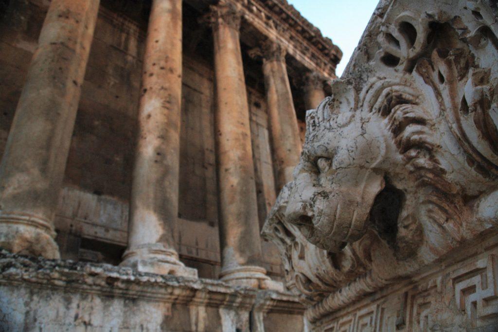 lion sculpture at Baalbek Ruins