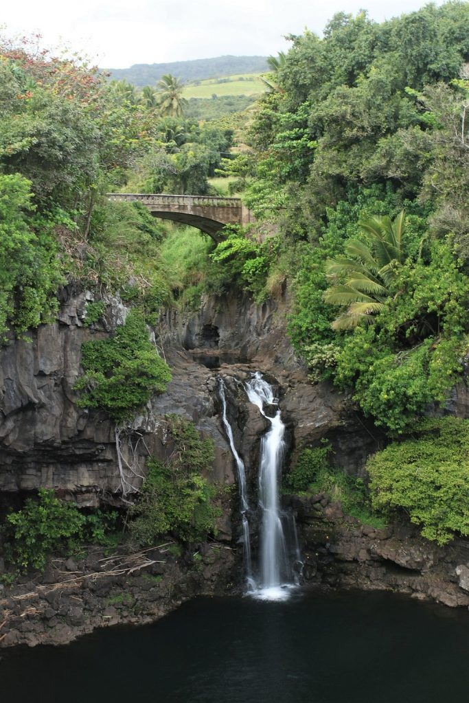 Large waterfall at Seven Sacred Pools, Ohe'o Gulch