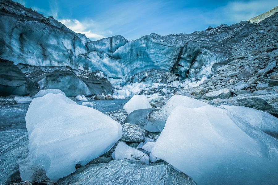 Dart Glacier, Cascade Saddle hike in New Zealand