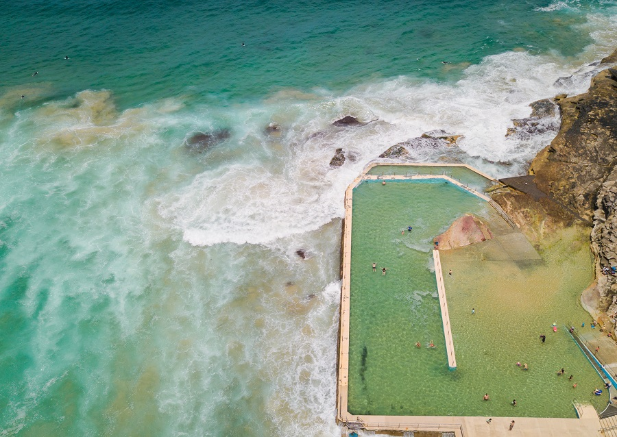 South Curl Curl Rock Pool from above