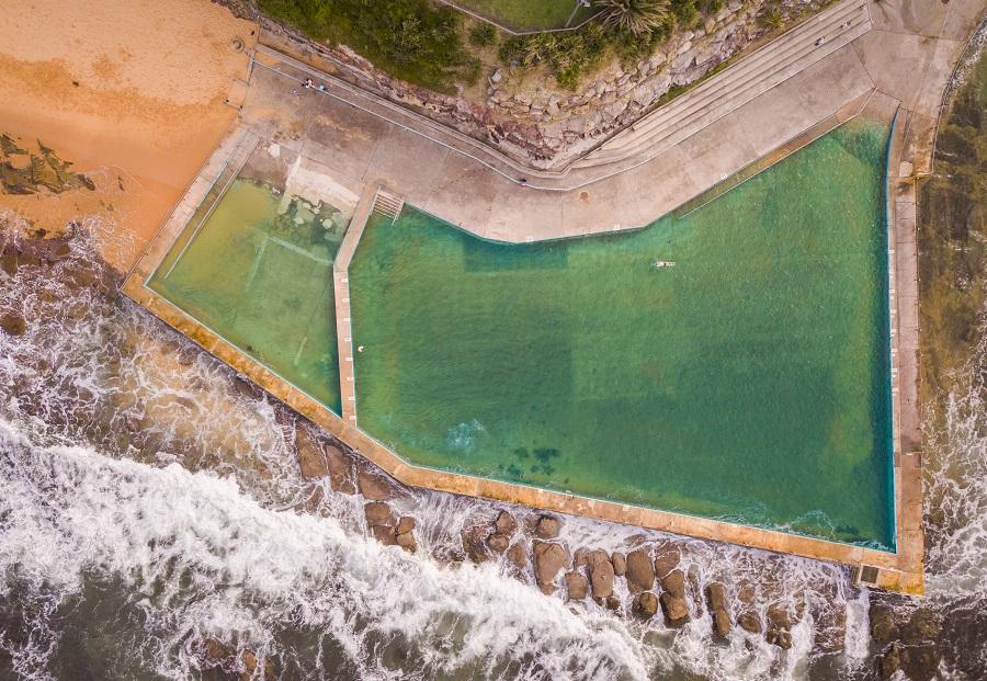Top down scene of Collaroy Rock Pool