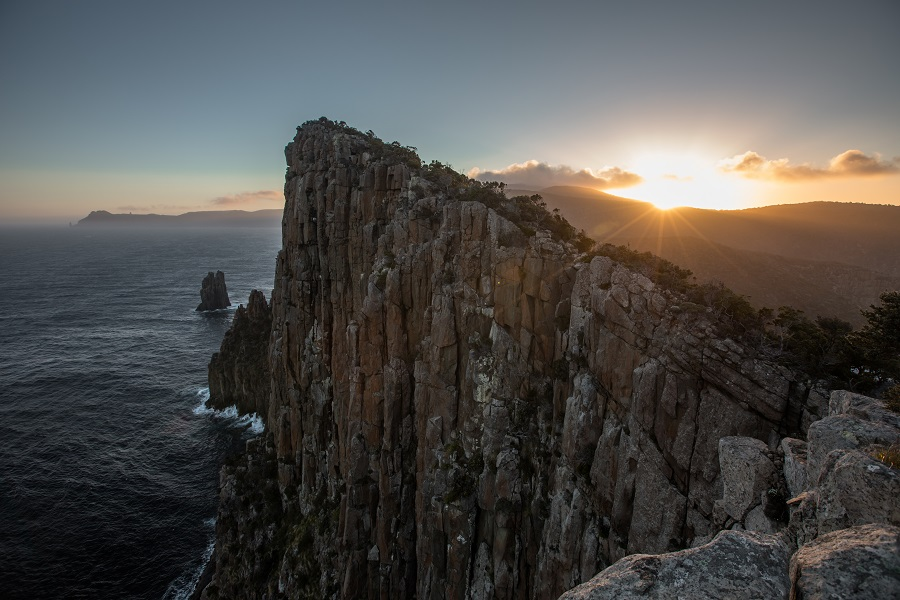Sun going down at Cape Hauy