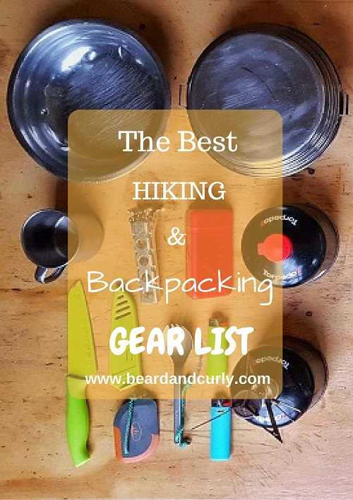Ultimate Hiking & Backpacking Gear Checklist, Hiking PDF, beardandcurly.com