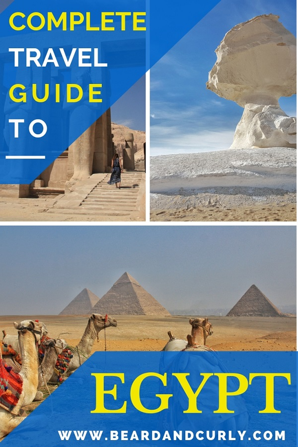 The Complete Guide to Backpacking Egypt. We spent over one month backpacking through Egypt. We stuck to a budget while visiting temples, the desert, went diving, and saw the Pyramids. This is an amazing budget destination! By: Beard and Curly (@beardandcurly)