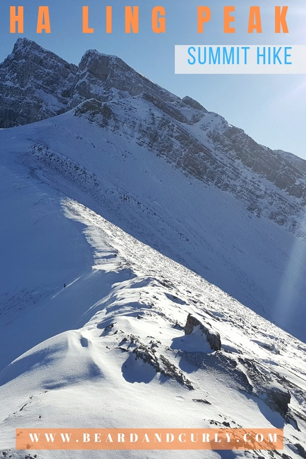 Winter hiking the Ha Ling Peak in Canmore, Alberta. Everything you need to know about a winter snowshoeing the Ha Ling Peak. By: Beard and Curly (@beardandcurly)