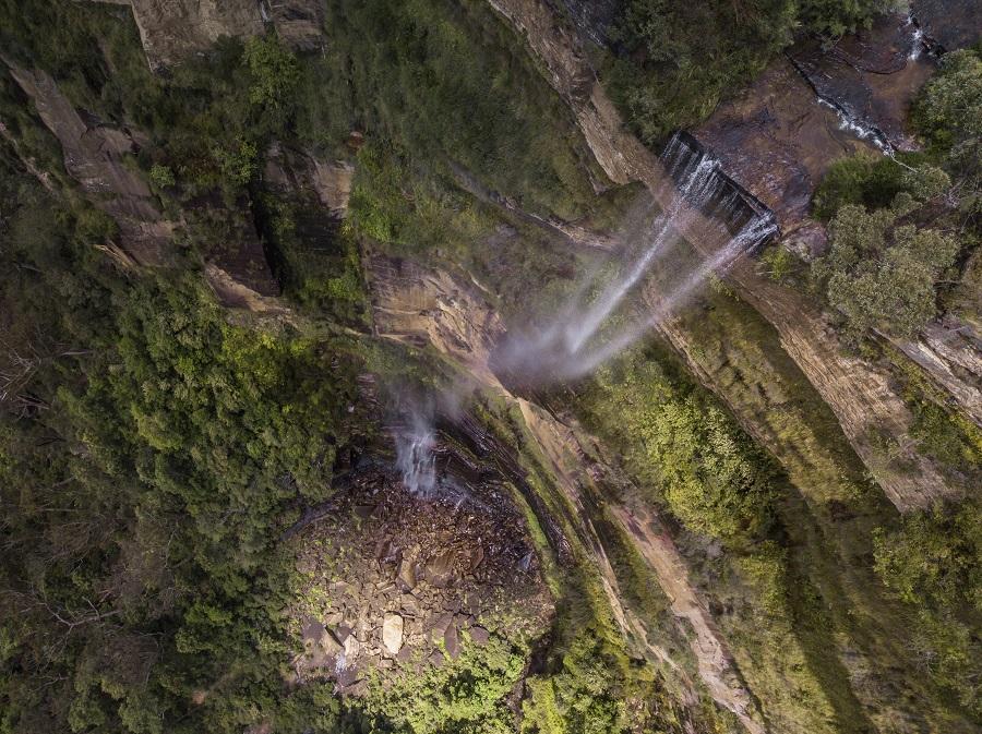 bird's eye scene of Wentworth Falls