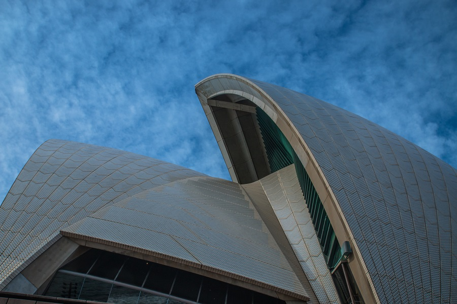 The top of the Sydney Opera House