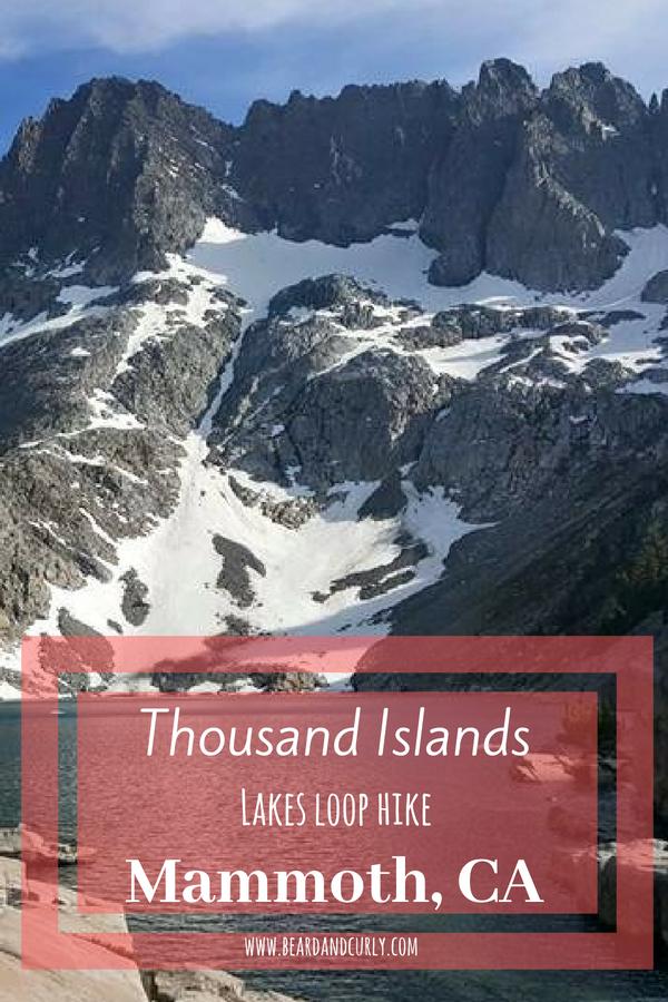 Thousand Island Lakes Loop Hike in Mammoth, California, hiking, backpacking #hiking #backpacking #california www.beardandcurly.com