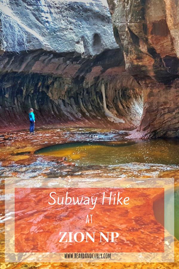 Subway Hike in Zion National Park, Hiking, Utah #subway #zion #utah www.beardandcurly.com