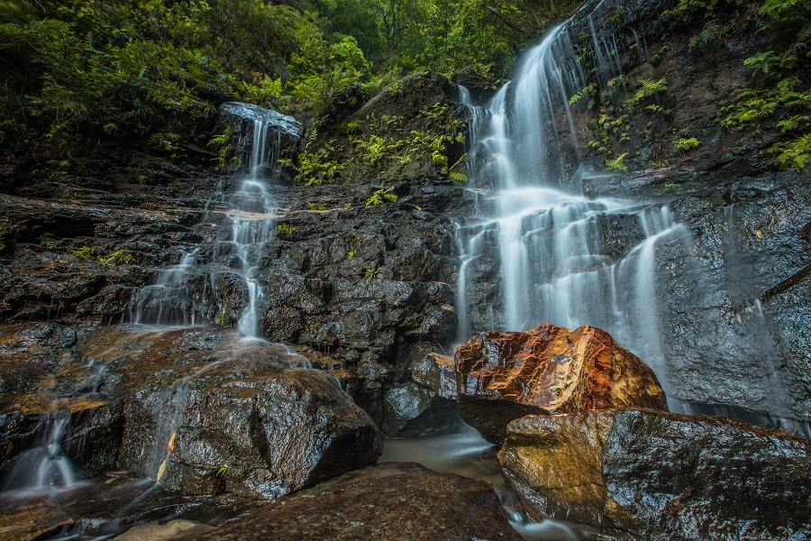 milky water at Waterfalls in the Blue Mountains
