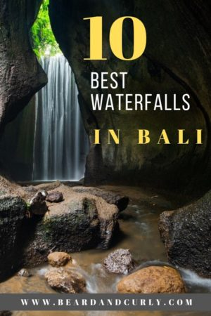 Top 10 Waterfalls in Bali. We've got you covered on the best waterfalls in Bali. From Tubimana to tegenungan waterfalls these are our favorites. These are the most photographic waterfalls in Bali. #bali, #waterfalls, #indonesia By: Beard and Curly (@beard_and_curly)