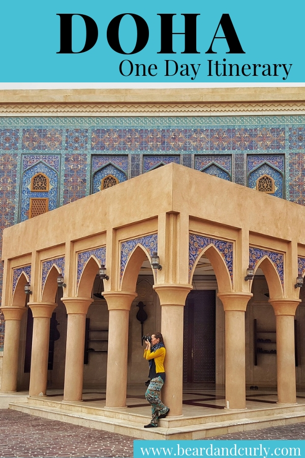 Doha is a small country in the Arabian Penisula. With Qatar airlines it is possible to have a free tour during a layover. This guide covers One-Day Itinerary in Doha, Qatar. #doha #qatar By: Beard and Curly (@beardandcurly)